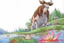 Kể lại câu chuyện Ếch muốn to bằng con bò bằng văn xuôi