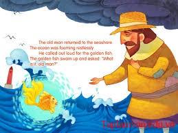 """Kể về phần kết mới của truyện """"ông lão đánh cá vá con cá vàng"""""""