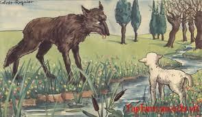"""cho soi va cuu 1 - Hãy nêu cảm nhận của em về bài """"Chó Sói và Cừu"""