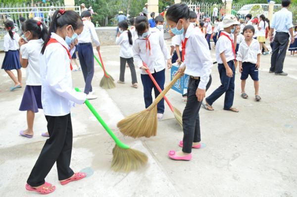 Em hãy nêu suy nghĩ của mình về vấn đề xả rác trong trường học rất hay